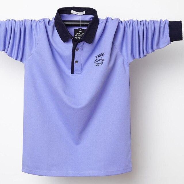 Фото мужская рубашка поло размера плюс 6xl 5xl с воротником осенняя