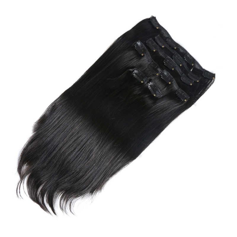 70G 100G 120G Clip In Human Hair Extensions Braziliaanse Remy Straight Haar #1 # 1B #4 #8 #613 #27 12 Inch-24 Inch 7 Stk/set Volledige Hoofd