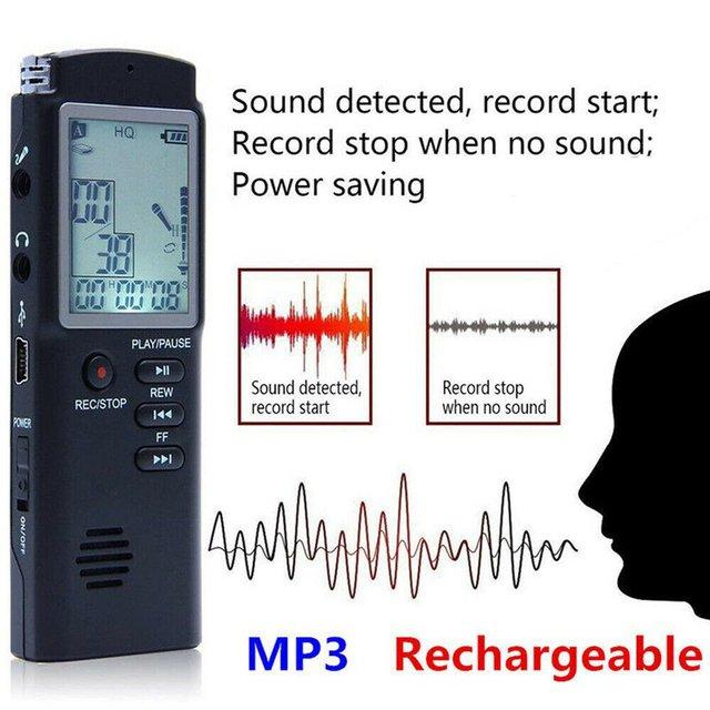 96 Hours Dictaphone Digital Audio Voice Recorder  5