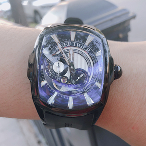 Image 2 - 2020 Reef Tiger/RT New Arrival Sports Mens Automatic All Black Rubber Strap Waterproof Watch RGA3069S