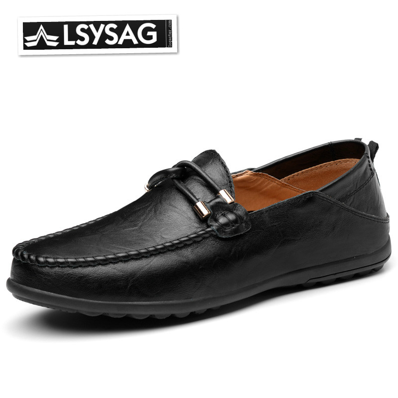 Men Loafers Moccasin Man Leather Shoes Classic Slip On Driving Casual Shoes Comfortable Breathable Boat Shoes Business Shoes