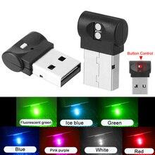 Auto FÜHRTE Atmosphäre Licht Innen Bunte Dekorative Lampe Stecker Und Spielen Mini USB Fuß Licht Notfall Beleuchtung