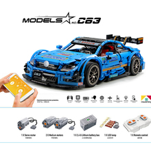 13073 Technic RC Racing Car AMG C63 DTM Compatible With MOC-6687 6688 Building Blocks Bricks App Control With LED Toys Gifts