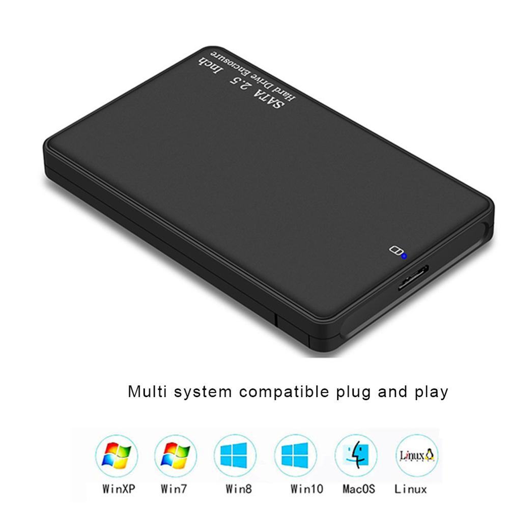 VKTECH HDD Case 2.5'' SATA To USB 3.0 Adapter Hard Drive Enclosure For SSD Disk Case HDD Box USB 2.0 HD External HDD Enclosure