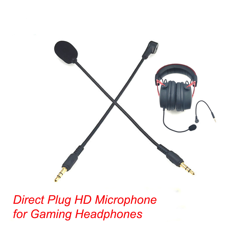 3.5mm Mono/ Stereo/ 4 Pole HD Microphone For Gaming Headphones Direct Plug Condenser Microphone For Bluetooth Headsets 190mm