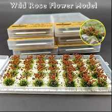 Mesa de arena con diseño de flores para jardín, decoración de jardín en miniatura, duradera, estática, 28 Uds.