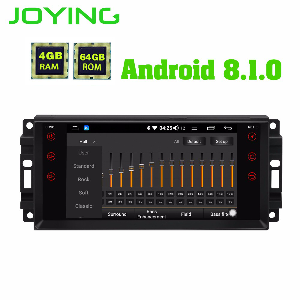 JOYING 4GB RAM Android 8.1 Car Audio HU stereo for JEEP WRANGLER Radio GPS system for <font><b>Grand</b></font> <font><b>Cherokee</b></font> head unit for Dodge Avenger image