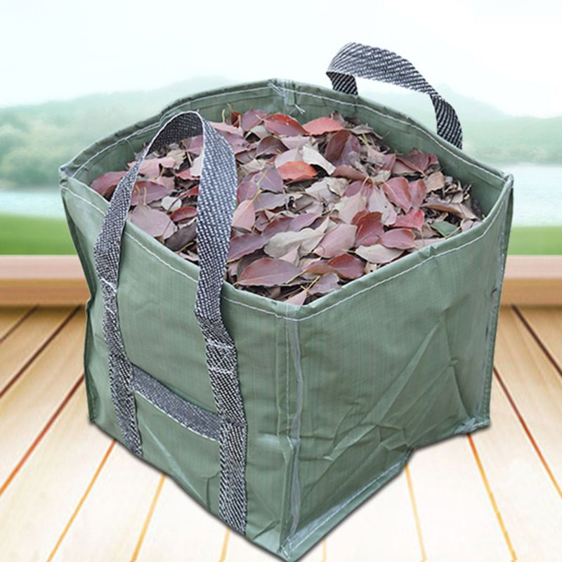 Square 252L Reusable Garden Leaf Bag Folding Gardening Container With Handles Gardening Containers For Lawn And Yard Waste