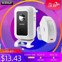 KERUI M7 Due In One Wireless Anti furto Campanello Benvenuto Funzione di Dispositivo di Rilevamento del Movimento 433MHZ Convertibile luce stroboscopica