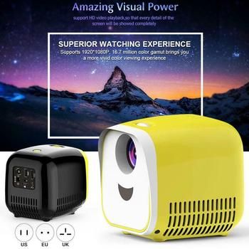 Mini Portable Projector LED Home Theater Cinema HD 1080P Display USB/HDMI/TF Card Interface DQ-Drop