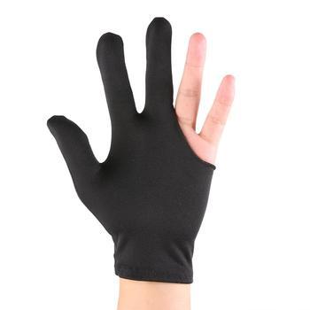 Snooker bilard Leica tkanina trzy palce Cue rękawica lewa ręka otwarty basen Billard akcesoria dla człowieka rękawica gorąca sprzedaż Dropshipping tanie i dobre opinie CN (pochodzenie) Other Snooker Billiard Glove 190*105*10mm 7 48*4 13*0 39 Leica Fabric
