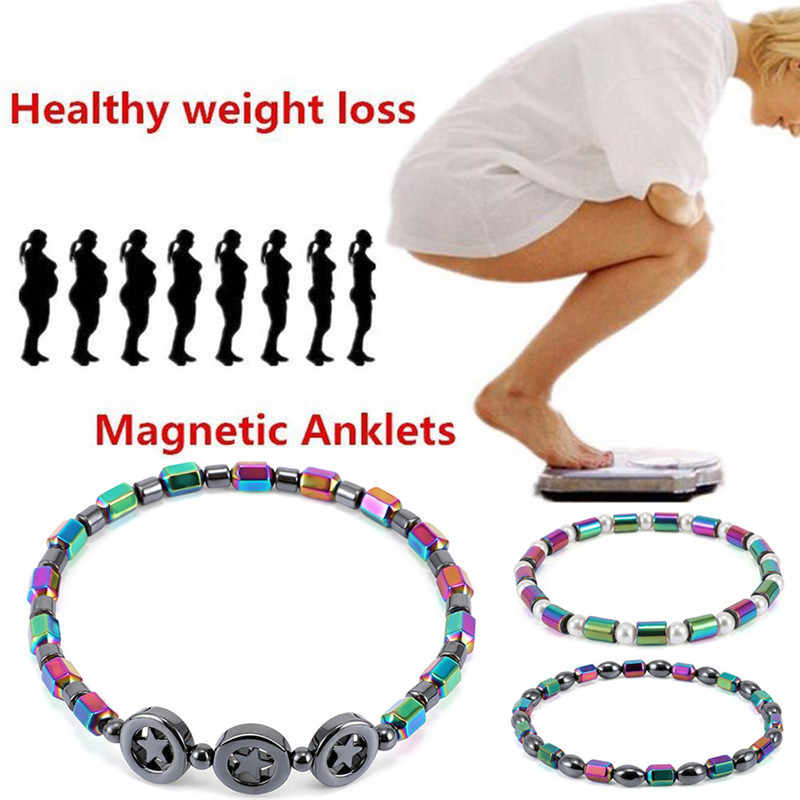 22 Style Weight Loss Bracelet Round Magnetic Stone Therapy Slimming Hand Chain Hematite Stretch Magnet Bracelet Jewelry Health