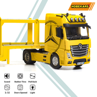 HOBEKARS 1:32 Diecasts & Toy Vehicles Car Model Metal Alloy Simulation Platform Truck With Sound Light Pull Back For Collection