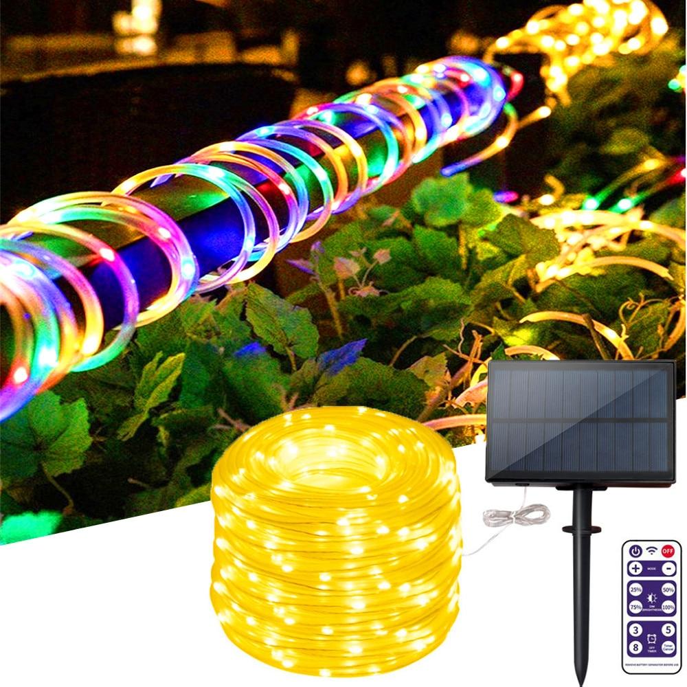 100/200/300LED Hose Solar Light LED String Lights Ourdoor 3.7V/1200mah Waterproof Decorate Christmas Wedding Party Garden Light
