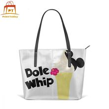 Mickey Mouse Handbag Dole Whip Top-handle Bags Pattern High quality Leather Tote Bag Womens Shopper Trending Women Handbags