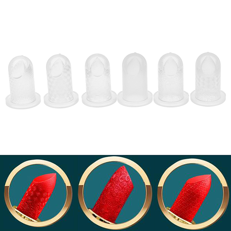 1PCS 12.1mm Lipstick Mold Silicone DIY Lip Balm Cosmetic Mould Holder 6 Types Good Use Lipstick Mould Craft Tool