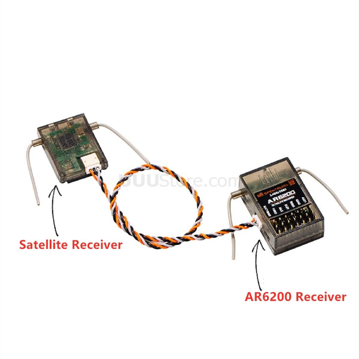 Spektrum AR6200 With 2.4GHz Self-frequency Satellite Receiver For DSMX DSM2 11MS 22MS WALKERA Devo 7E 10 8s 12s RC Drone Diy Toy