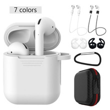 For Apple Bluetooth Earphones Mini Wireless Earbuds Sport Handsfree Earphone Cordless Headset for airpods Silicone box