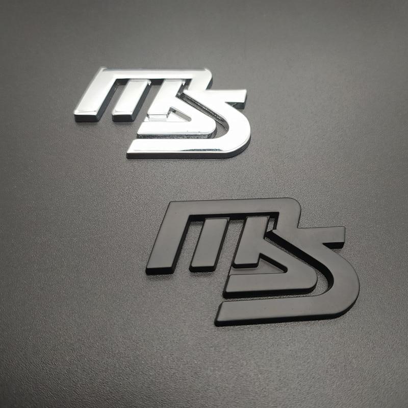 1Pcs 3D Metal  Car Side Fender Rear Trunk Emblem Badge Sticker Decal For MAZDASPEED MAZDA 3 6 Car Styling Decorative