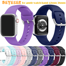 цена на 2020 Silicone Watch strap band for apple watch band 42mm 38mm Series 1/2/3 Wrist Strap for iwatch bands 4 40mm 44mm new Bracelet
