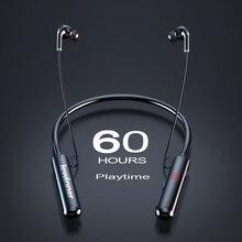 Lewinner 60 Ore di gioco di Resistenza Bluetooth Cuffie Stereo Bass Cuffia Senza Fili Con Archetto Da Collo di Display A LED di Alimentazione Auricolare Carta di TF