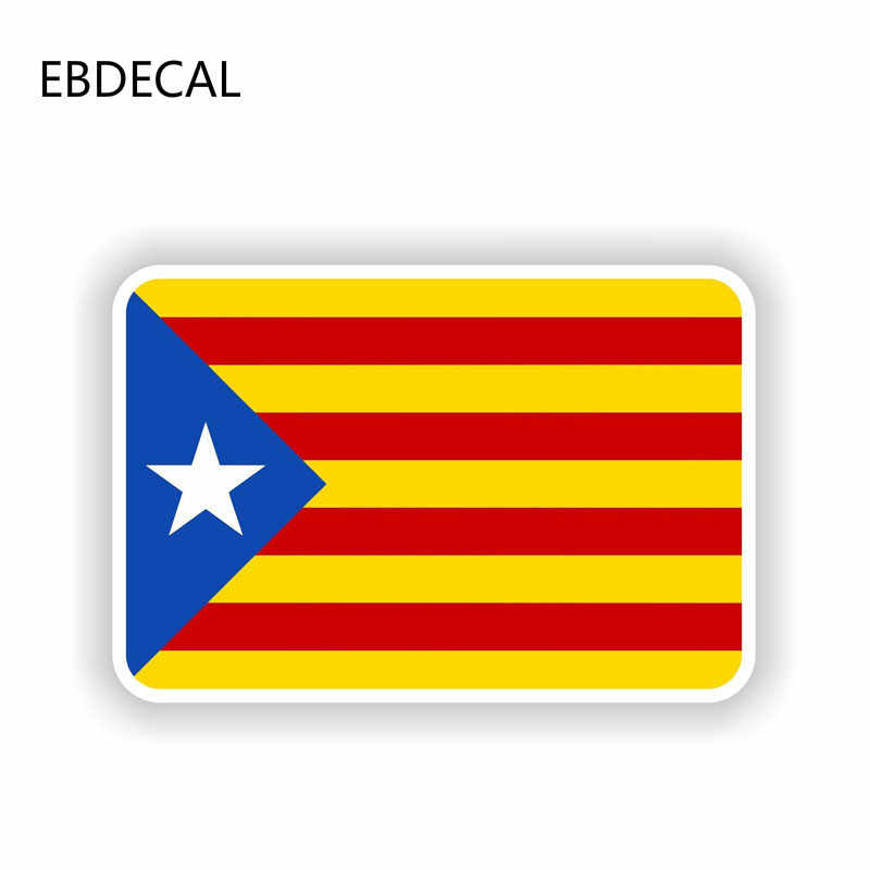 Ebdecal Window Catalonia Bendera untuk Auto Mobil/Bumper/Window/Stiker Dinding Decals Diy Dekorasi CT11571