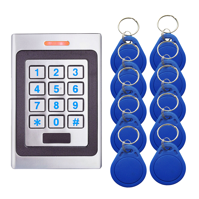 A7 Metal Access Control System Device Machine 2000 User Input And Output 125Khz Proximity Entry Door IP67 Waterproof