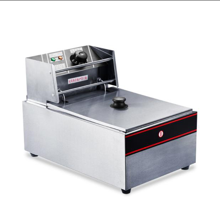 Hadc7e1375333444b96be3cd8c419d91bj - Restaurant Equipment Commercial Table top Frying Machine Electric French Fries Chips Cooker