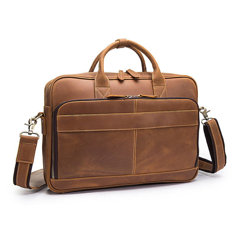 MAHEU Men Briefcase Genuine Leather Laptop Business Bag 15