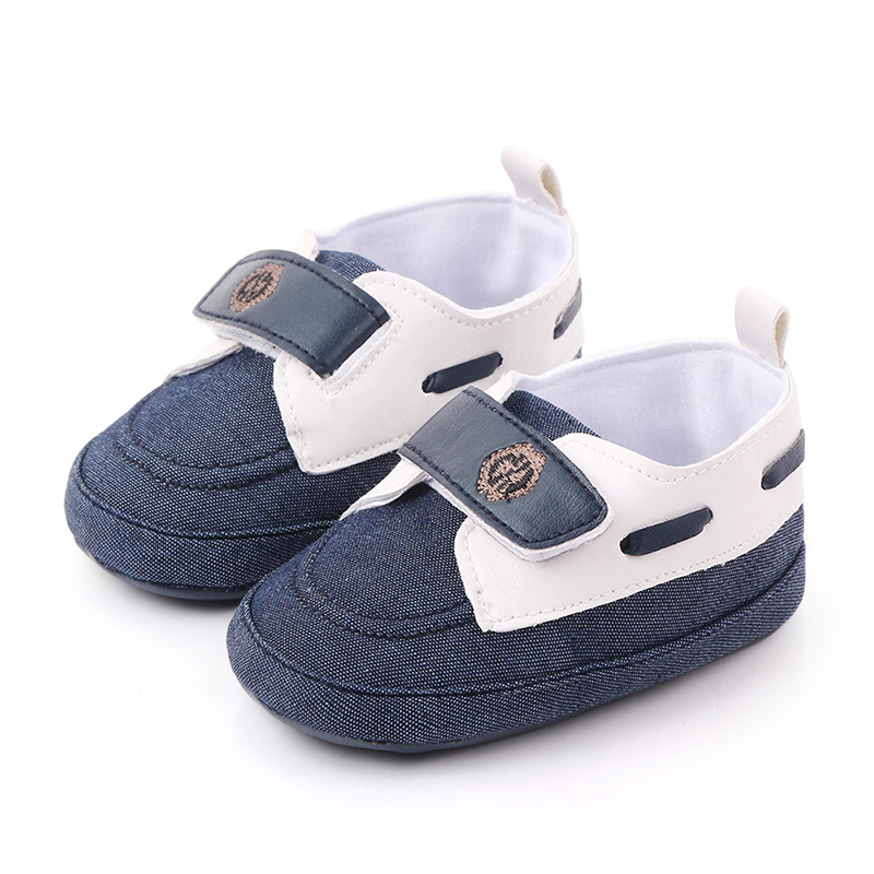 Baby Shoes Solid Color Infant Crib Shoes PU Leather Shoes Baby Sneaker Anti-slip Soft Sole Toddler Prewalker For 0-18M