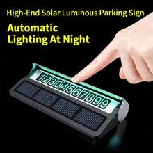 Solar Luminous Car Temporary Parking Card Phone Number Card Plate Sticker Car Styling Hidden Telephone Number Card Car Park Stop