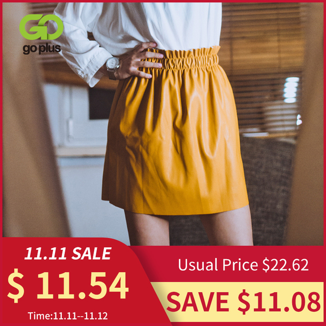 Winter Womens Leather Mini Skirt Black Elastic High Waist Skirts Womens Clothes Faldas Mujer Moda 2020 Jupe Femme Streetwear