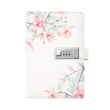 New Design Combination Lock Diary Lined Notepad Hardcover Executive Notebooks, 5