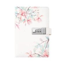 Nowy Design zamek szyfrowy pamiętnik z podszewką notatnik w twardej oprawie, 5.51x7.87 cala (bez długopisu) TPN053