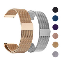 18mm 20mm 22mm 16mm Milanese Loop Watchband Strap for Samsung Galaxy Watch 46mm 42mm Active Stainless Steel Band for Gear S3 S2 laforuta milanese loop strap for gear s3 frontier classic watch band 22mm 20mm 18mm stainless steel mesh samsung galaxy 46mm