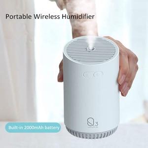 Image 5 - 320ML אלחוטי אוויר מכשיר אדים עם 2000mAh סוללה מגניב ערפל קולי מרסס USB יצרנית ערפל רומנטי לילה מנורת עבור בית רכב