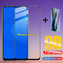 2 in 1 Full Cover 9D Tempered Glass for Huawei honor 9X 9X Pro 8X 8A 8C 8S v20 v30 10 20 10i 20i 10 20 Lite Screen Protector 2 in 1 full cover 9d tempered glass for huawei honor v30 v30 pro v20 screen protector