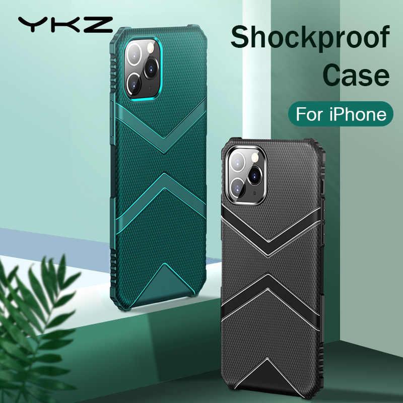 YKZ Telefon Fall Für iPhone 11 Pro Max Fall Abdeckung Für iPhone XR XS Max X 10 7 8 Plus fall Silikon Weiche Luxus Coque Funda Zurück