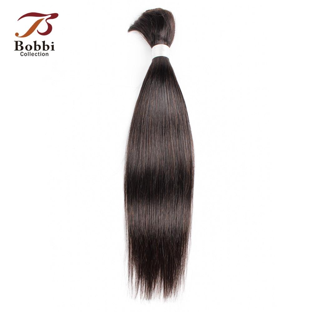 Bobbi Collection Straight Hair Bulk Human Hair For Braiding Natural Color Indian Non Remy Human Braiding In Hair Bulk Extensions