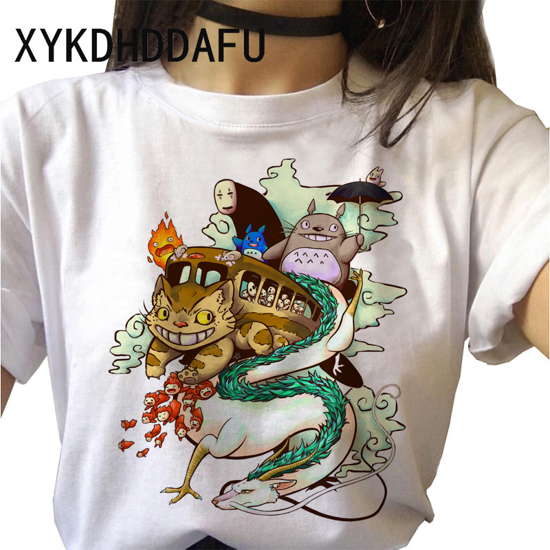 Hadc8d2d7c47048fab160669df8ec7acfv - Totoro T Shirt Women Kawaii Studio Ghibli Harajuku Tshirt Summer Clothes Cute Female ulzzang T-shirt Top Tee japanese Print