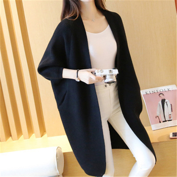 Long Cardigan Women Sweater Autumn Winter Bat Sleeve Knitted Sweater Plus Size Jacket Loose Ladies Sweaters Cardigans 3XL 11