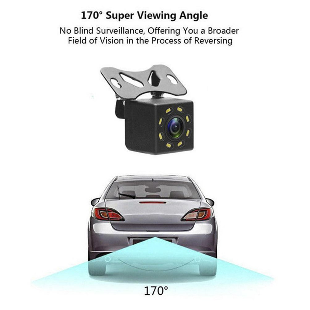 8 Lights Hd Car Rear View Camera Reversing Camera Waterproof Car Wide Angle Hd Backup title=