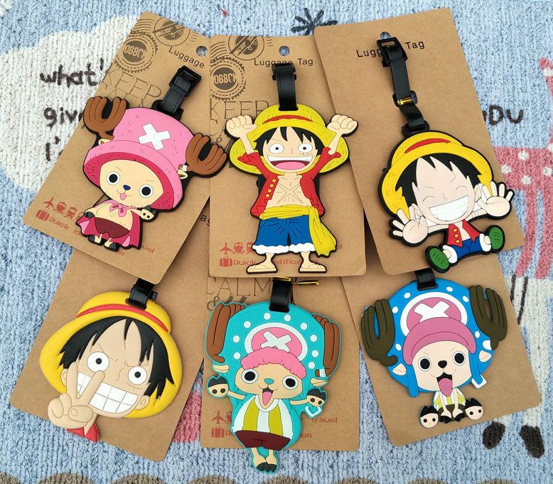 1pcs One Piece Luffy Anime Travel Brand Luggage Tag Suitcase ID Address Portable Tags Holder Baggage Label New
