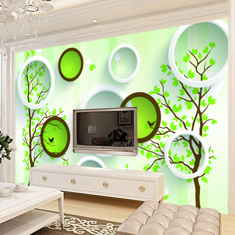 Simple 3D Simple Wallpaper Seamless Large Mural TV Backdrop Wallpaper Modern Living Room Bedroom Wall Cloth