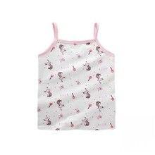 Sports Bra T-Shirt Vest Underwear Tops Girls Kids Cotton Children Cartoon 5pc/Lot 1-10years