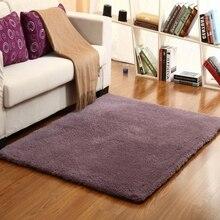Утолщенный ковер из овечьей шерсти для гостиной и спальни прикроватный ковер для лестницы нескользящий коврик моющийся детский коврик для ползания серый фиолетовый
