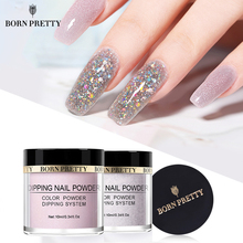 BORN PRETTY Glittery Dipping Nail Powder 10ml Holographics Natural Dry Acrylic Dust Dip Nail Art Decorations for Nails Designs