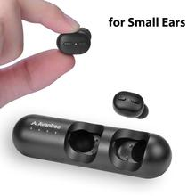 [Yeni sürüm] Avantree TWS110 Mini gerçek kablosuz kulaklık küçük kulaklar için kanallar, spor Bluetooth 5.0 kulaklık kontrolü ile