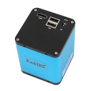 """Image 2 - Цифровой фокус SONY IMX290 HDMI TF видео Автофокус промышленный микроскоп камера + 180X C Mount объектив + Стенд + 144 светодиодная кольцесветильник + 10,1 """"ЖК дисплей"""