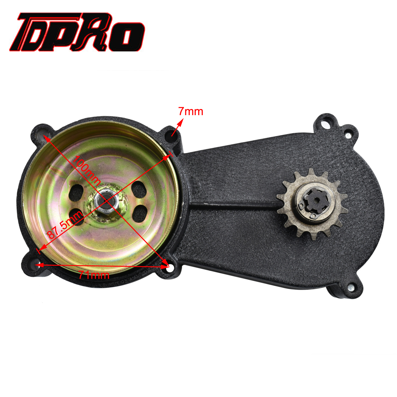 TDPRO 14T T8F Clutch Drum Gear Box Transmission 14 Teeths For fit 47cc 49cc Mini Moto ATV Dirt Bike Pocket Go Kart Chopper Buggy in Sprockets from Automobiles Motorcycles